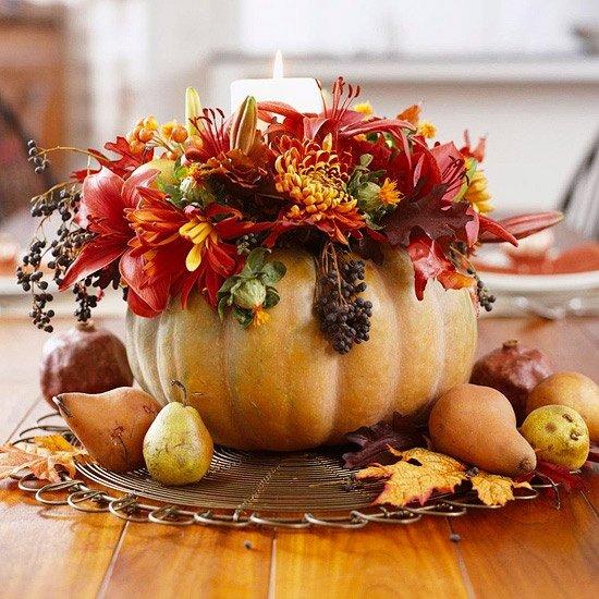 Отличная идея для украшения тыквы на праздник