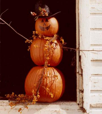 Отличная идея для украшения тыквы на Хэллоуин